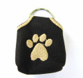 """Peace"" Tags -- Pet ID Tag Covers -- Black"