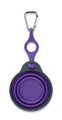 Collapsible Travel Cup w/ Bottle Holder - Small Purple