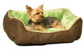 "Self-Warming Lounge Sleeper Small Mocha/Green 16"" X 20"""