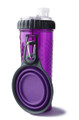 Snack-DuO Bottle with Companion Cup - Purple