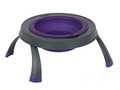 Single Elevated Pet Bowl - Large Purple