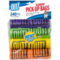 OUT! Pet Products - Dog Waste Pick-Up Bags - Rainbow Pack - 240 Bags