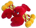 "Lobster Dog Toy - Rope and Plush Construction - 19"" - Cute and Colorful!"