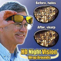 HD Night-Vision, Wraparound Driving Glasses