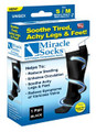Miracle Socks, Anti-Fatigue Compression Socks - Black