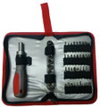 47 Pc. Ratcheting Screwbit/Socket Set, in zip-up case