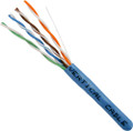 Category-5E, 24AWG, UTP, 8C Solid Bare Copper, 350MHz, Riser Rated, PVC Jacket, Blue, 1000ft. Pull Box