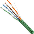 Category-5E, 24AWG, UTP, 8C Solid Bare Copper, 350MHz, Riser Rated, PVC Jacket, Green, 1000ft. Pull Box