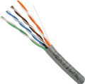 Category-5E, 24AWG, UTP, 8C Solid Bare Copper, 350MHz, Riser Rated, PVC Jacket, Gray, 1000ft. Pull Box