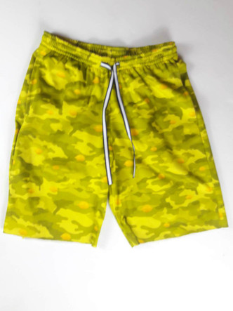Yellow Camo shorts