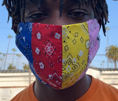 Face Mask Striped Bandana