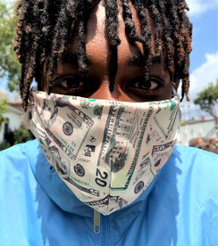 Face Mask Money Dollars Print