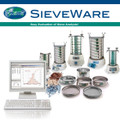 This software serves to support sieving, and the storage and representation of particle size distributions determined with the sieve analysis. For each sieving the measurements are stored in a file (rdf file) and are then available for extensive evaluation. SieveWare permits the use of 16 sieves + sieve base. The largest supported sieve mesh aperture size is 125 mm.