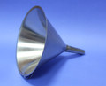 FUNNEL 304 STAINLESS STEEL 250 mm DIAMETER QTY 3 Description Stainless Funnel Material of Construction: 304 stainless steel Surface Finish: Better than 0.5 microns Ra Top Diameter: 240mm Outer Diameter of Spout: 20mm Overall Length: 235mm Nominal Spout Length: 88mm Nominal Weight: 330g Side Handle: Spot welded to cone section of funnel