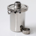 """Description Stainless Container 1L with External GL45 Thread Materials of Construction: - Body: 316 stainless steel - Lid: 316 stainless steel - Clamp: 304 stainless steel - Gasket: Silicone (FDA acceptable grade) - Cap: 316 stainless steel - Cap Seal: Silicone (FDA acceptable grade) Method of Construction: All welds ground and polished Crevice free interior Surface Finish: Better than 0.5 microns Ra Nominal Volume 1 Litre Dimensions  DIAMETER = 119 mm HEIGHT = 152 mm Weight: 1.6 Kg (body + lid + gasket + clamp) Note: The neck of the container is fitted with a 4"""" diameter ferrule which conforms to BS4825-3"""