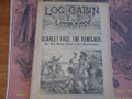 1891 LOG CABIN LIBRARY #122  OLL COOMES SCARCE STORY PAPER DIME NOVEL