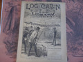 1891 LOG CABIN LIBRARY #129  SCARCE STORY PAPER DIME NOVEL