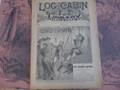 1892 LOG CABIN LIBRARY #166  SCARCE STORY PAPER DIME NOVEL