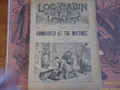 1891 LOG CABIN LIBRARY #100  SCARCE STORY PAPER DIME NOVEL