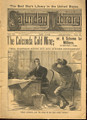 1888 VERY SCARCE SATURDAY LIBRARY #152 WELDON COBB DIME NOVEL STORY PAPER