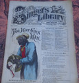 "1878 BEADLE'S SINGER HALF DIME LIBRARY #24  ""SEE VIDEO""  DIME NOVEL STORY PAPER"