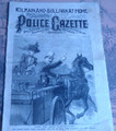 1889 NATIONAL POLICE GAZETTE #621 KILRAIN AND SULLIVAN DIME NOVEL STORY PAPER