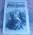 1889 NATIONAL POLICE GAZETTE #610 KILRAIN AND SULLIVAN DIME NOVEL STORY PAPER