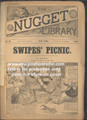 """1891 SCARCE NUGGET LIBRARY #90 """"FRANK""""  COMEDIC DIME NOVEL STORY PAPER"""