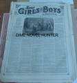 1876 MUNRO'S GIRLS & BOYS OF AMERICA #129 SCARCE STORY PAPER DIME NOVEL
