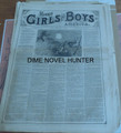 1876 MUNRO'S GIRLS & BOYS OF AMERICA #136 SCARCE STORY PAPER DIME NOVEL