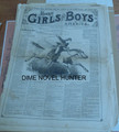 1876 MUNRO'S GIRLS & BOYS OF AMERICA #143 SCARCE STORY PAPER DIME NOVEL
