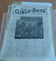 1876 MUNRO'S GIRLS & BOYS OF AMERICA #148 SCARCE STORY PAPER DIME NOVEL