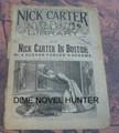 1891 NICK CARTER LIBRARY #11 DIME NOVEL