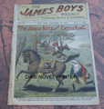 1902 JAMES BOYS WEEKLY #90 FRANK TOUSEY D. W. STEVENS DIME NOVEL STORY PAPER