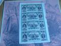 1857 CITIZENS' BANK OF LOUISIANA $5 DOLLAR FULL SHEET UNCUT OBSOLETE MONEY