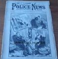 ILLUSTRATED POLICE NEWS # 1124  SULLIVAN SLANDER BOSTON & ST LOUIS BASEBALL YELLOW JOURNALISM
