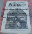 1881 NATIONAL POLICE GAZETTE JAMES GARFIELD ASSASSINATION PRESIDENT STORY PAPER