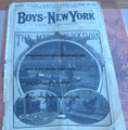 8 NEW YORK WEEKLY 1886 THE BLACK CLOAK COMPLETE STORY PAPER DIME NOVEL