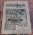 1896 GOLDEN HOURS #442 ELECTRIC TRAIN COVER NORMAN L MUNRO STORY PAPER