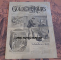 1893 GOLDEN HOURS #302SNAKE CHARMER COVER NORMAN L MUNRO STORY PAPER