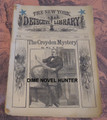 1884 NEW YORK DETECTIVE LIBRARY #81 CROYDEN MYSTERY DIME NOVEL