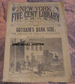 1893 NEW YORK FIVE CENT LIBRARY #23 HELL'S KITCHEN NY DIME NOVEL