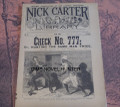 NICK CARTER LIBRARY #12 1891CHECK # 777 DIME NOVEL STORY PAPER