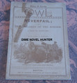 THE OWL LIBRARY #11 1893 SCARCE DIME NOVEL LAST ISSUE OF A VERY SHORT RUN