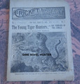 "1888 CRICKET LIBRARY #2 MARLINE MANLY'S ""THE YOUNG TIGER HUNTER"" DIME NOVEL"