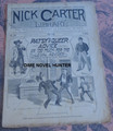 1896 NICK CARTER LIBRARY #269 PATSY'S QUEER ADVISE DIME NOVEL STORY PAPER