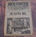 NICK CARTER LIBRARY #96 1893 THE ELECTRIC DRILL GREAT BURGLATY COVER DIME NOVEL
