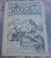 THE NUGGET LIBRARY #154 DEATH SHADOW FORRREST KING DIME NOVEL STORY PAPER