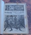1882 BEADLE'S BOY'S LIBRARY OF SPORTS AND ADVENTURE #24 DIME NOVEL