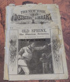 1886 NEW YORK DETECTIVE LIBRARY #25 MARLINE MANLY OLD SPHINX DIME NOVEL